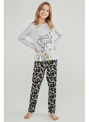 Penti Kız Çocuk Çok Renkli Teen Whats Up 2'li Pijama Takım PNF6PTB220SK Renkli